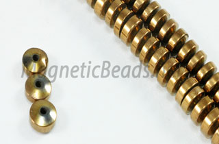 Magnetic Bead 4mm Copper Roundel (M-09-C)