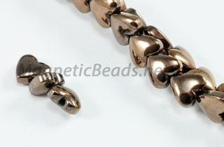 Magnetic Bead 6mm Copper Puffed Hearts (M-107-C)