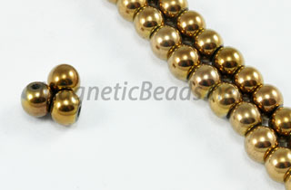 Magnetic Bead 4mm Copper Round (M-201-C)