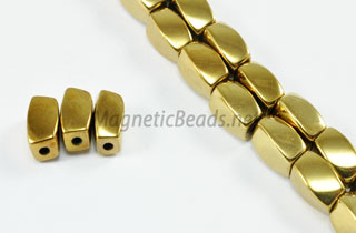 Magnetic Bead 5x8mm Gold Twist (M-600-G)