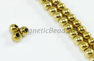 Magnetic Beads 4 mm Gold Round (M-201-G)