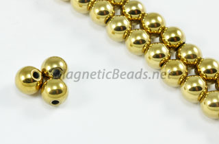 Magnetic Beads 6 mm Gold Round (M-202-G)