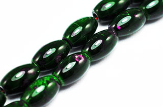 Magnetic Marbled Pearl Bead 5x8mm Green Rice (MMBG-5)