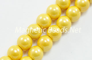 Magnetic Pearl Bead 6mm Brite Yellow (MPBY-206)