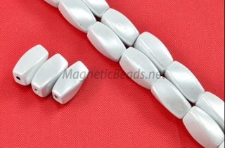 Magnetic Pearl Beads 5x12mm White Twist (MPW-601)