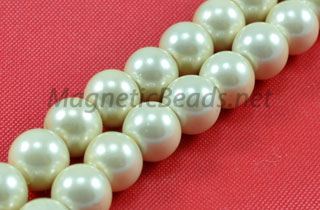 Magnetic Pearl Beads 6mm Round Creamy White(MPW-206-C)