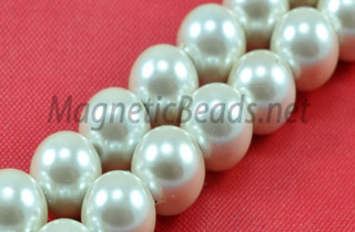 Magnetic Pearl Beads 6mm Round (MPW-206)