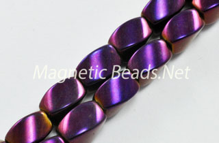 Magnetic Bead 5x8mm Purple Rainbow Twist (M-600-PR)