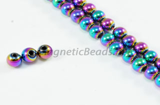 Magnetic Bead 4mm Rainbow Round (M-201-R)