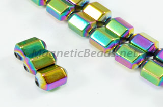 Magnetic Bead 5x8mm 6 Sided Rainbow Drum (M-103-R)