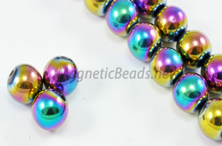 Magnetic Bead 8mm Round Rainbow (M-208-R)