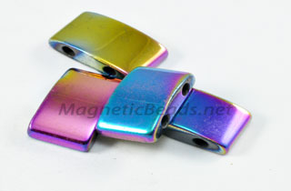 Magnetic Bead 10x20mm Rainbow Spacer (MHC-107-R)