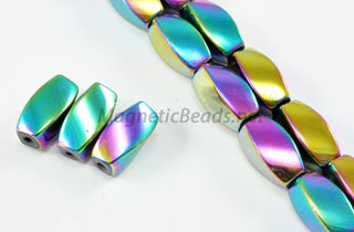 Magnetic Bead 6x12mm Rainbow Twist (M-602-R)
