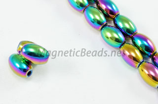 Magnetic Bead 5x8mm Rainbow Rice (M-502-R)