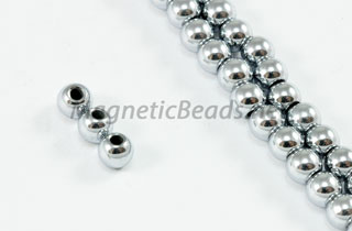 Magnetic Beads 4mm Silver Round (M-201-S)
