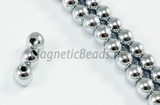 Magnetic Bead 5mm Silver Round (M-205-S)