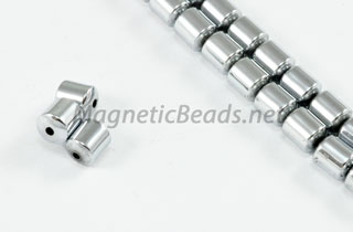 Magnetic Bead 4mm Silver Drum (M-101-S)