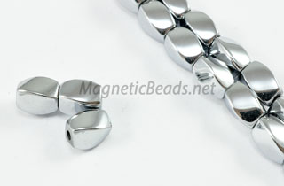 Magnetic Bead 5x8m Silver Twist (M-600-S)