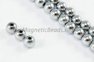 Magnetic Beads 6mm Silver Round (M-202-S)