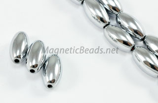 Magnetic Bead 6x12mm Silver Rice (M-503-S)