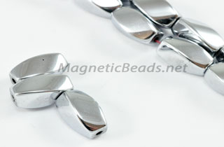 Magnetic Bead 6x12mm Silver Twist (M-602-S)