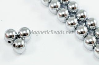 Magnetic Beads 8mm Silver Round (M-208-S)