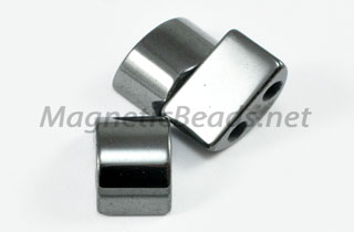 Magnetic Bead 6x14mm 2 Holed Semi Circle Spacer (MHC-108)