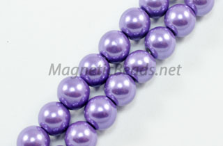 Magnetic Pearl Beads 6mm Round Purple (MPPUR-206)
