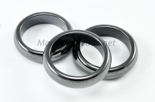 Magnetic Bead Hematite Rings Sizes 6-12 (MHR6T)