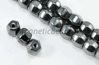 Triple Power Magnetic Bead 6X6mm 6 Faced Rice (PM-506)