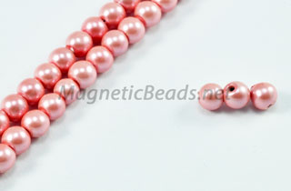 Magnetic Pearl Beads 4mm Round Med Pink (MPMP-204)