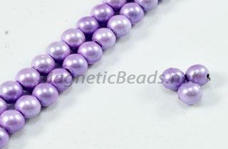Magnetic Pearl Beads 4mm Round Lite Lavender (MPLA-204)