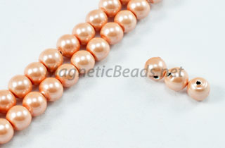 Magnetic Pearl Beads 4mm Round Lite Pink (MPLP-204)