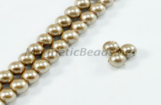 Magnetic Pearl Beads 4mm Round Lite Taupe (MPTA-204)