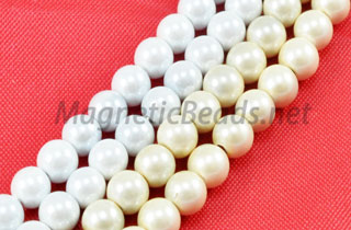 Magnetic Pearl Beads 4mm Round (MPW-204)