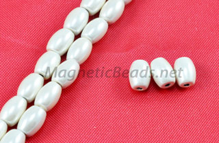 Magnetic Pearl Beads 4x6mm Creamy White Rice (MPR-500-C)