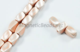 Magnetic Pearl Beads 4x7mm Twist Pink (MP-509-P)