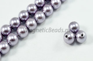 Magnetic Pearl Beads 6mm Round Lite Lilac (MPLL-206)