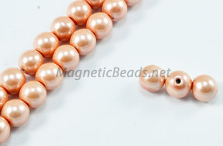 Magnetic Pearl Beads 6mm Round Lite Pink (MPLP-206)