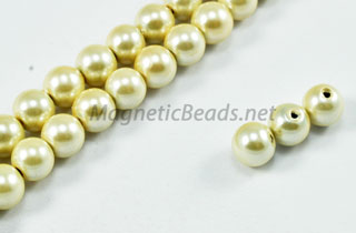 Magnetic Pearl Beads 6mm Golden White (MPW-206GW)