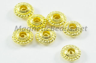 Metal Findings/Spacers 4x2m Golden Metal Spacer (F-301) 4x2 mm