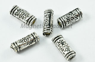 Metal Findings/Spacers 4X8m Silver Metal Tube Bead (F-32)