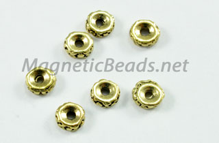 Metal Findings/Spacer 5x2mm Silver Roundel (F-77)