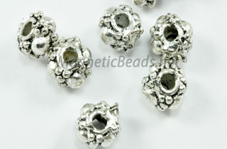 Metal Finding/Spacer 6x4 mm Silver Metal Spacer (F-227)