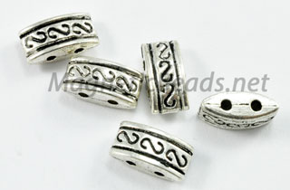 Metal Findings/Spacer 2 Hole 4x5x10mm (F-61)