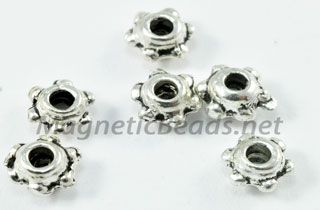 Metal Findings/Spacers 4mm Double Daisy Bead Cap (DD-04)