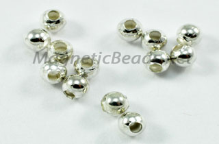 Metal Finding/Spacer 3 mm Small Hole Silver Plated Bead (SB003)