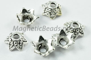 Metal Findings/Spacers 8x8mm Torus Shape Bead Cap (F-60)