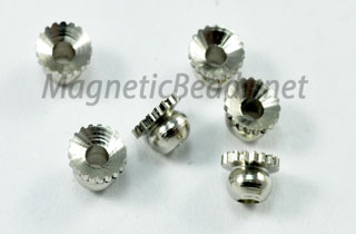 Metal Findings/Spacers 4mm Cup & Ball Bead Cap (CB-04)