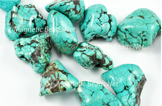 Semi-Precious Beads Natural Turquoise Nuggets (T-Nugget)